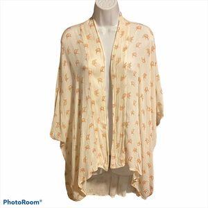 Symbology Soft Flowy Floral Kimono